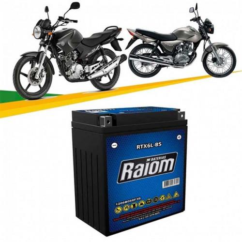BATERIA DE MOTO RAIOM 5ah 12v RTX6L-BS - SELADA